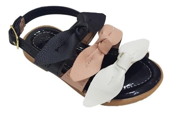 Sandalia Feminina Infantil Confort Laço Rasteirinha 20 A 36