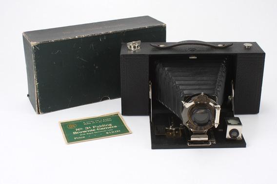 Câmera Fotográfica De Fole Kodak N 3a Folding Brownie 1909