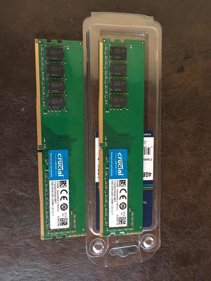 Dos Tarjetas Memoria Ram Ddr 4 4gb 2400mhz