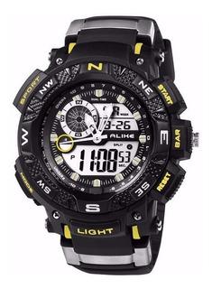 Reloj Militar S-shock Luz Sumergible Antigolpes V. Colores