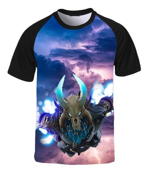 Camiseta Fortnite Jogo Game Battle Raglan Ragnarok