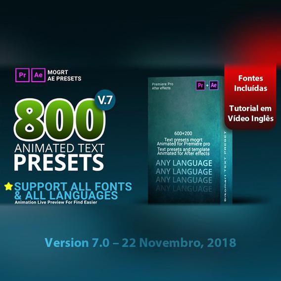 Projeto After Effects E Premire Texto Animado Motion V7 800+