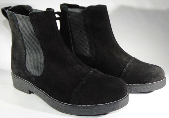 Zapatos Botineta Cuero Gamuza C/elastico Art 580 Muy Comodos