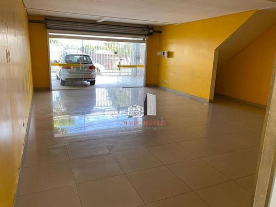 Salão Para Alugar, 95 M² Por R$ 2.000/mês - Portal Dos Ipês Ii - Cajamar/sp - Sl0013