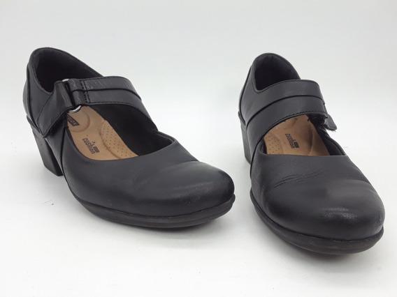 Clarks Emslie Lulin Zapatos De Piel Color Negro Talla 23 Mex