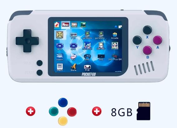 Bittboy Pocket Go Multiplataformas Neo Geo Ps1 8gb + Games