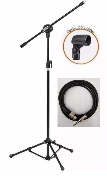 Pedestal Microfone Pmv100 Vector + Cabo Xlr/p10 Sto Angelo