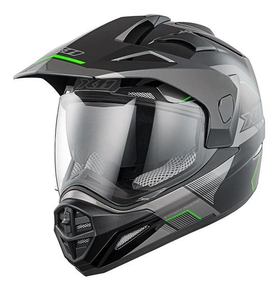 Capacete Motocross X11 Crossover X3 Viseira Óculos Interno