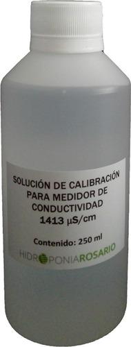 Imagen 1 de 1 de Solución De Calibración 1413 Us/cm P. Conductimetro 250 Ml