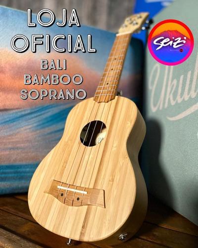 Imagem 1 de 7 de Ukulele Seizi Bali Soprano Acústico Solid Bamboo