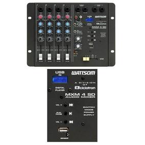 Mesa De Som / Mixer 4 Canais Usb Mxm 4 Sd - Ciclotron