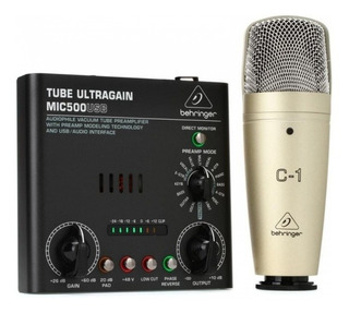 Kit De Grabacion Behringer Voice Studio C1 Mic500 Usb Vocal