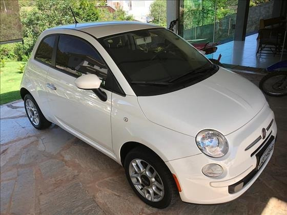 Fiat 500 Cult 1.4 Flex 8v Evo Dualogic Branco Seminovo