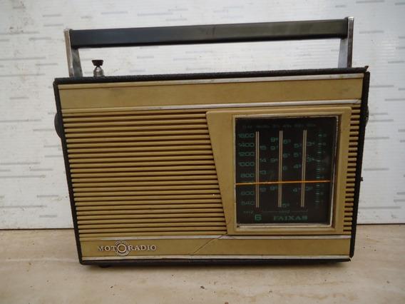 Radio Antigo Motoradio De 6 Faixas Funcionando