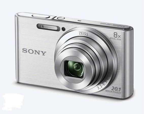 Câmera Sony Cyber-shot Dsc W830 Zoom 8x 20.1mp Prata+ Cartão