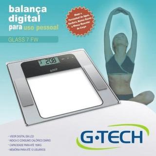 Balança Digital Com Medição De Gordura - G-tech - Glass 7 Fw