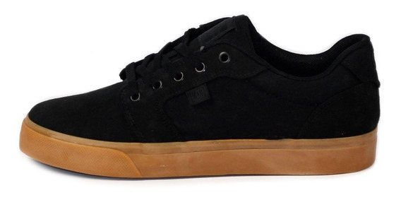 Tênis Skatista Dc Shoes Anvil Tx Preto/caramelo Original