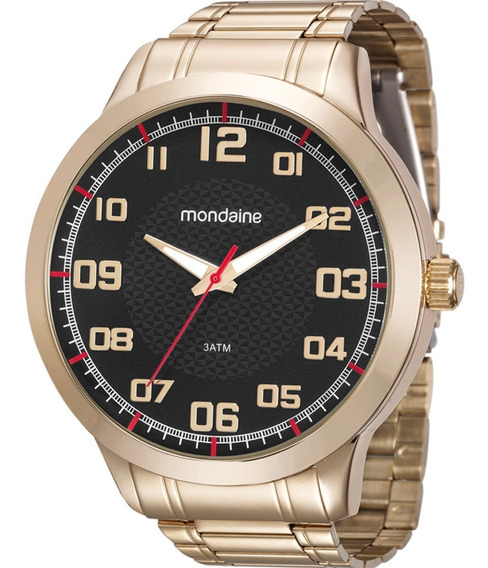 Relógio Masculino Mondaine Dourado 99142gpmvde3