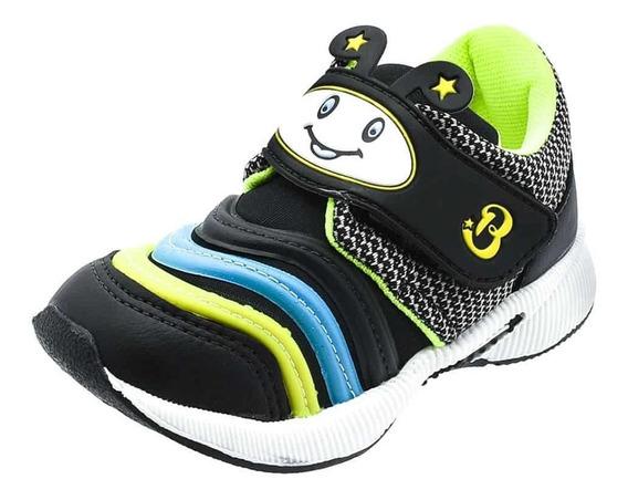 Tênis Infantil Masculino Preto E Amarelo Atacadão Calçados