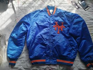Chamarra De Los Mets De Nueva York Starter De Los 80s Satén