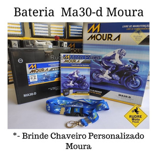 Bateria Moura 30a Harley Touring Street Glide Ma30-d Brinde