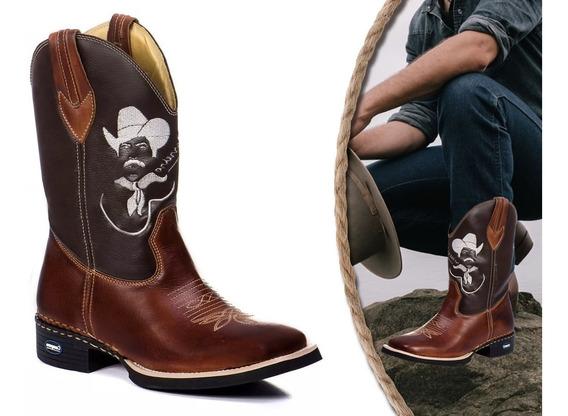 Bota Masculina Cano Longo Texana Country Tião Carreiro