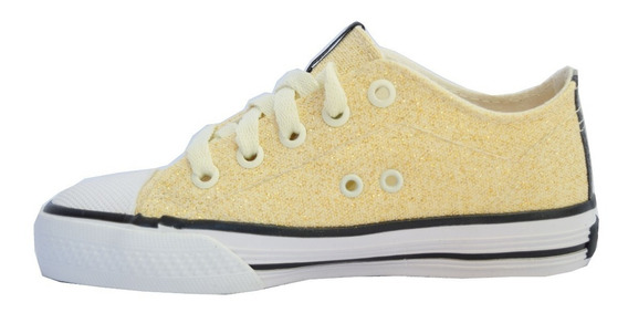 Zapatillas Topper Rail Glitter Kids Nena Dorado