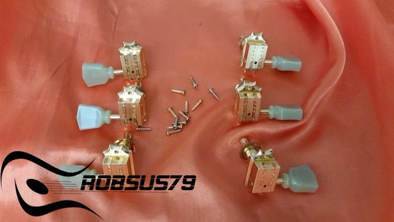 Tarraxa Gibson Vintage Gold Deluxe Pearloid Buttons Original