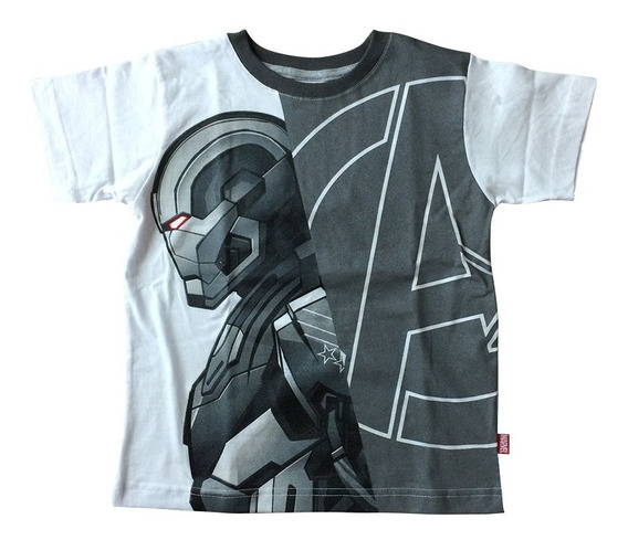 Playera Iron Patriot De Iron Man Para Niños Oficial Marvel