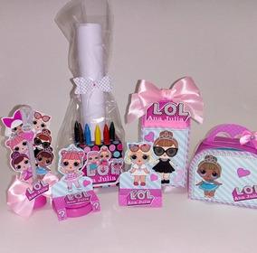 Kit Personalizado Lol Surprise + Centro De Mesa Kit Colori