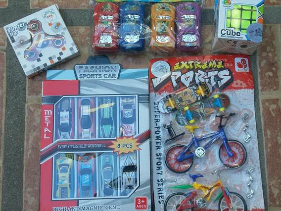 Juguetes Variados: Carros, Spiner , Cubo, Bicicletas
