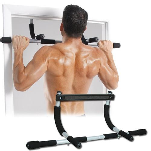 Barra De Puerta Iron Gym Piso Musculos Tonifica Moldea