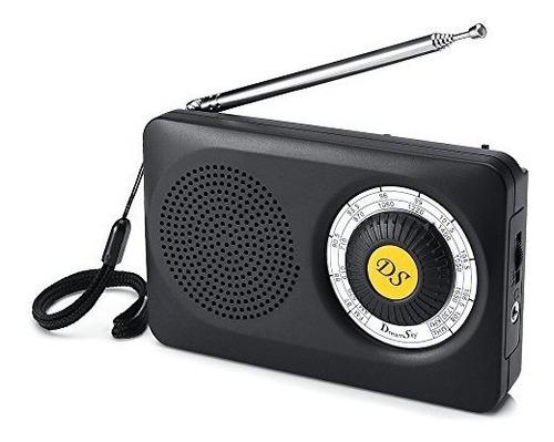 Radio Portátil Dreamsky Am Fm Con Altavoz Y Conector Para Au