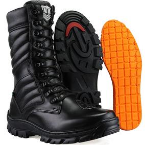 b811718414 Coturno Militar Couro Legitimo Ziper Masculino Dhl Calçados
