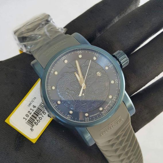 Relógio Invicta 18214 S1 Rally Dragon Yakusa Azul C/ Cinza