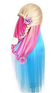 Cosmetology Mannequin Manikin Heads With Hair, Colorful Mann