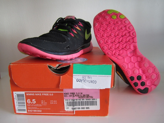 Zapatillas Nike Wmns Free 5.0 (talle 6.5 Usa) Impecables !!!