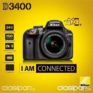 Nikon D3400 Digital 24.2mp Slr Camara Con Af-p 18-55mm 3.5-5