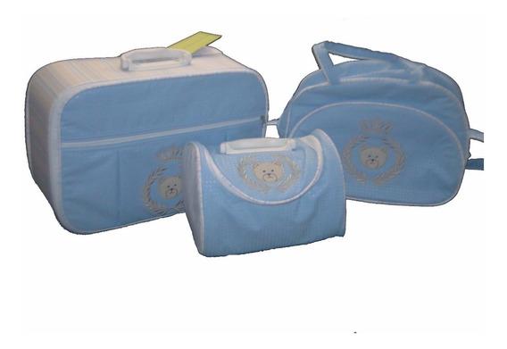 Kit Bolsa Bebe Maternidade Personalizada C/ Frasqueira Menin