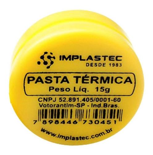 Imagem 1 de 5 de Pasta Térmica Branca 15g Implastec P/ Processador Peltier