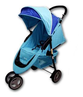 Carrinho Triciclo 3 Rodas De Bebê E Passeio Baby Azul