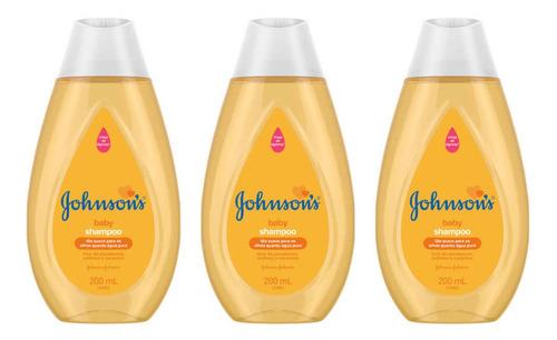 Johnsons Baby Tradicional Shampoo 200ml (kit C/03)