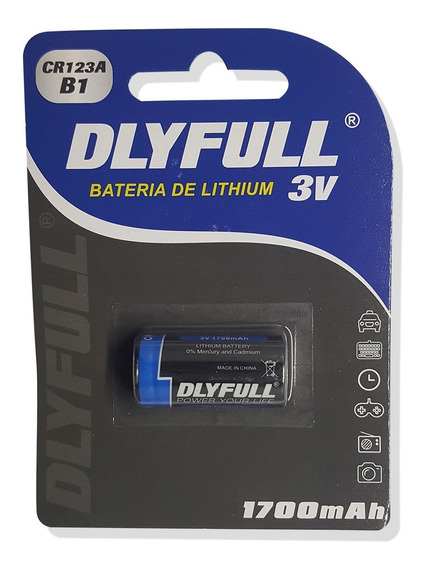 Bateria Cr123a 3v Dlyfull Lithium - Lacrado