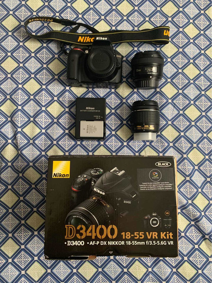 Nikon D3400 Com Kit 18-55mm