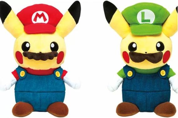 Pikachu Peluche Luigi Mario Bros Pokemon Center Sun 3ds A90*