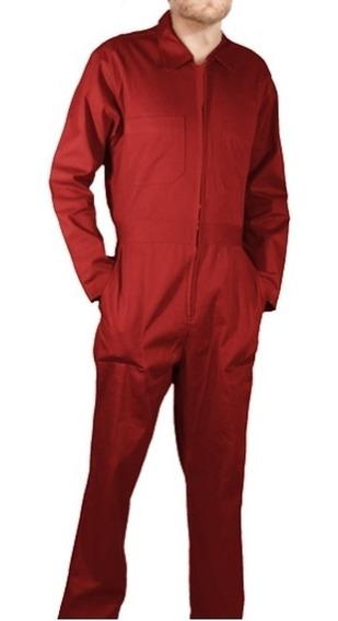 Overol Industrial Gabardina Rojo Tipo Brigada 100% Algodón
