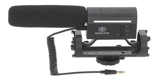 Microfone Direcional Condensa Greika Gk-sm10 Camera E Yotube