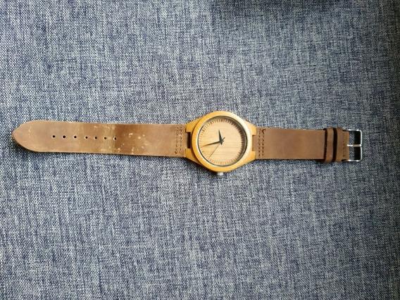 Relógio De Pulso De Madeira Ecológico Unisex