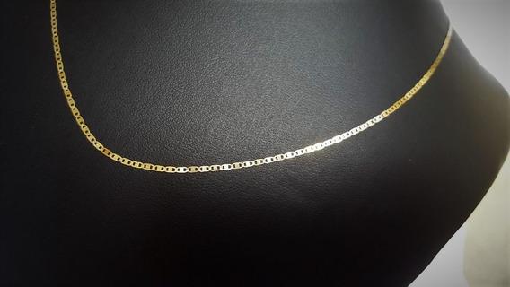 Correntinha De Ouro 18k 0.750 Piastrine 60cm