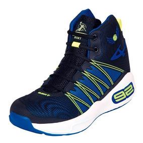 Calzado Hombre Caballero Tenis Basketball Pontiac Azul Comod